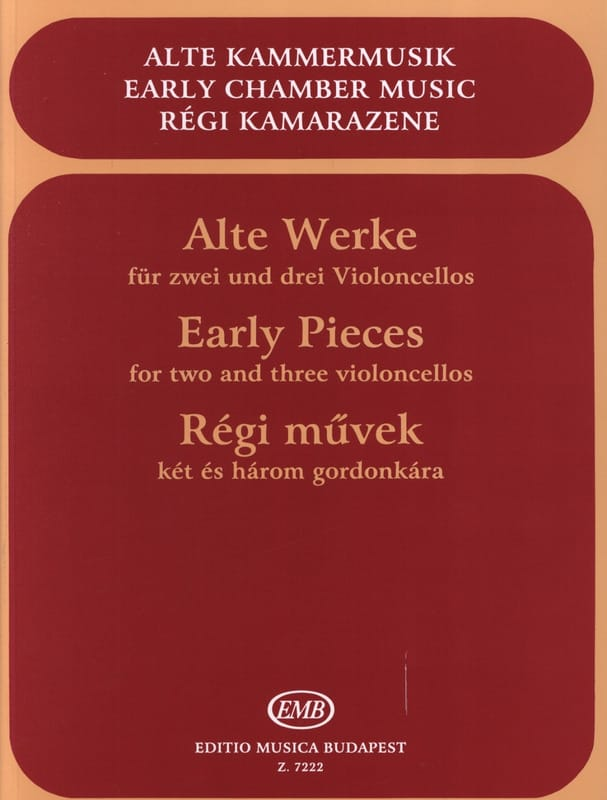 Arpad Pejtsik - Early pieces - 2 or 3 Cellos - Partition - di-arezzo.com