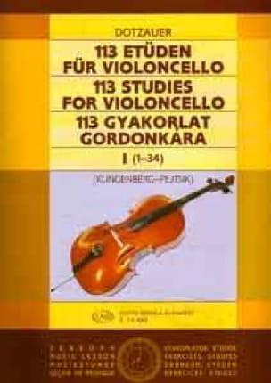 Friedrich Dotzauer - 113 Etüden für Violoncello - Heft 1 1-34 - Partition - di-arezzo.co.uk
