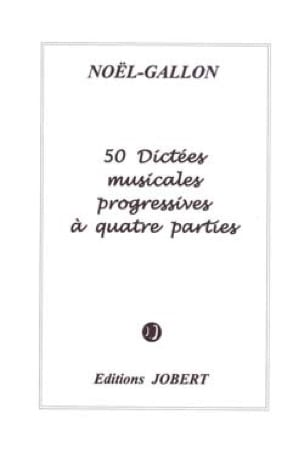 Noël Gallon - 50 Musical dictations with 4 parts - Partition - di-arezzo.co.uk
