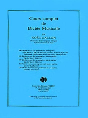 Noël Gallon - 200 1-part dictations - Volume 1 - Partition - di-arezzo.co.uk