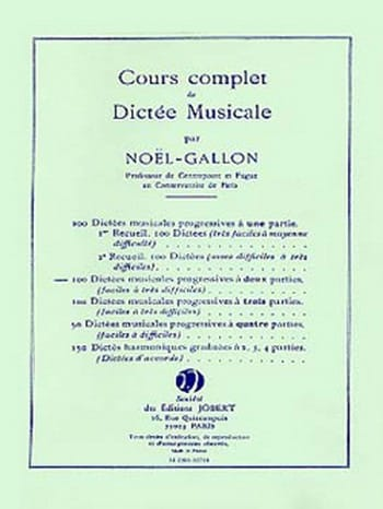 Noël Gallon - 100 Musical dictations with 2 parts - Partition - di-arezzo.co.uk