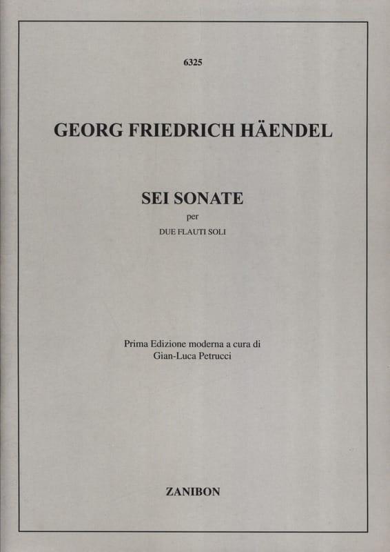 6 Sonates - 2 Flûtes - HAENDEL - Partition - laflutedepan.com