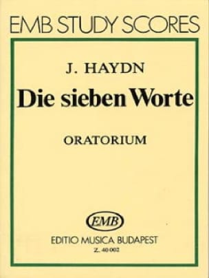 HAYDN - Die sieben Worte - Oratorio. - Partition - di-arezzo.co.uk
