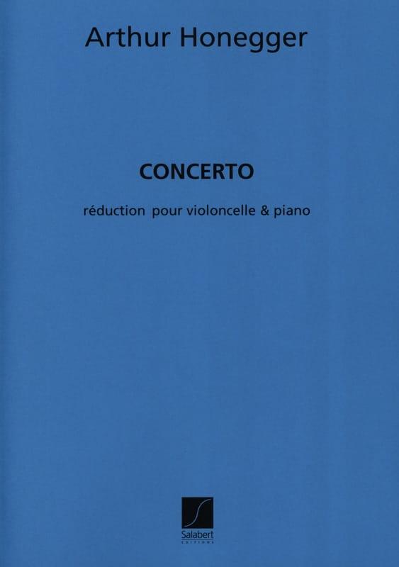 Arthur Honegger - Concerto - Cello and piano - Partition - di-arezzo.com