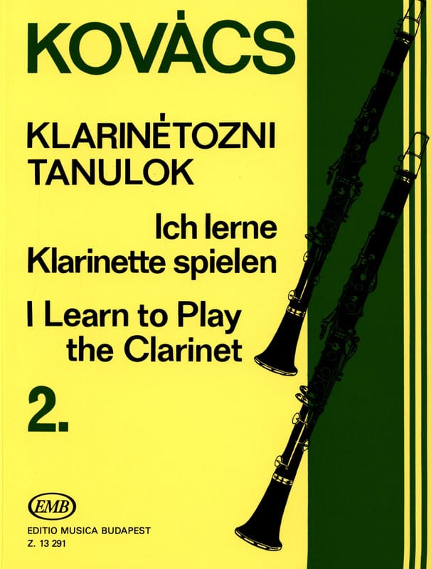 I learn to play the clarinet - Volume 2 - laflutedepan.com