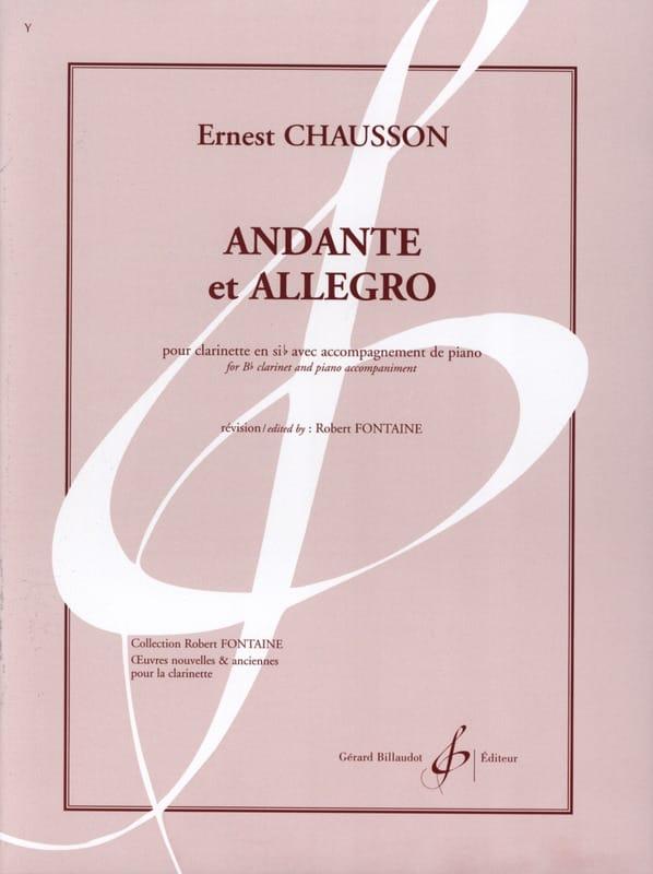 Andante et Allegro - CHAUSSON - Partition - laflutedepan.com