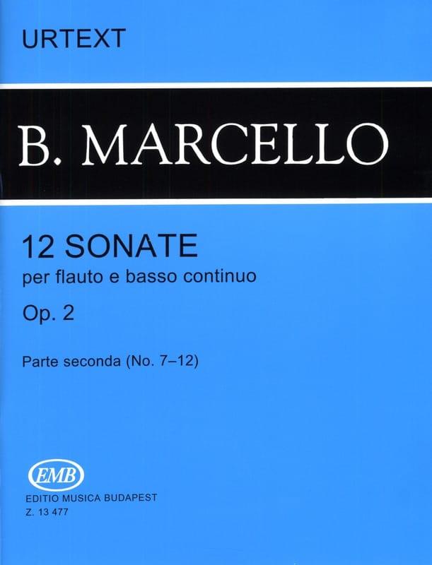 Benedetto Marcello - 12 Sonatas op. 2 - Volume 2 n ° 7-12 - flute and basso continuo - Partition - di-arezzo.com