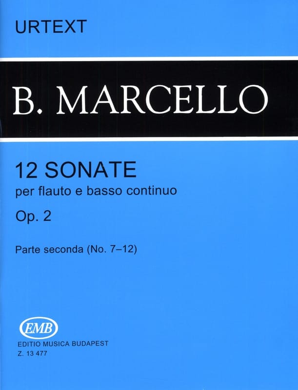 12 Sonates op. 2 - Volume 2 n° 7-12 - flauto e basso continuo - laflutedepan.com