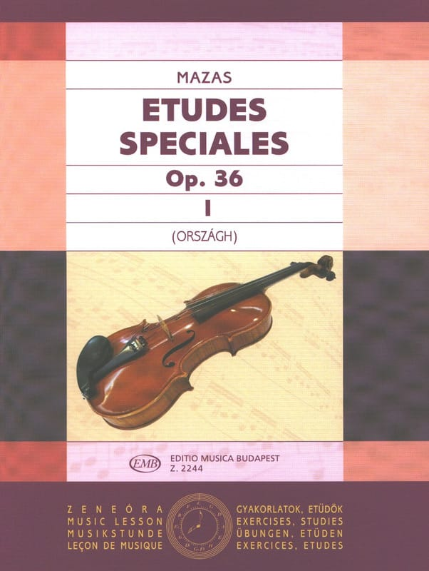 MAZAS - Special Studies, op. 36 n ° 1 - Partition - di-arezzo.co.uk