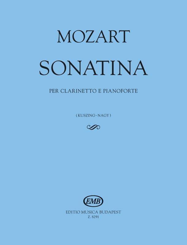 Sonatine - Clarinette et Piano - MOZART - Partition - laflutedepan.com