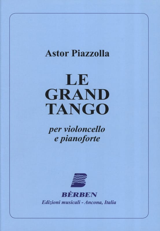 Astor Piazzolla - The Grand Tango - Cello - Partition - di-arezzo.com