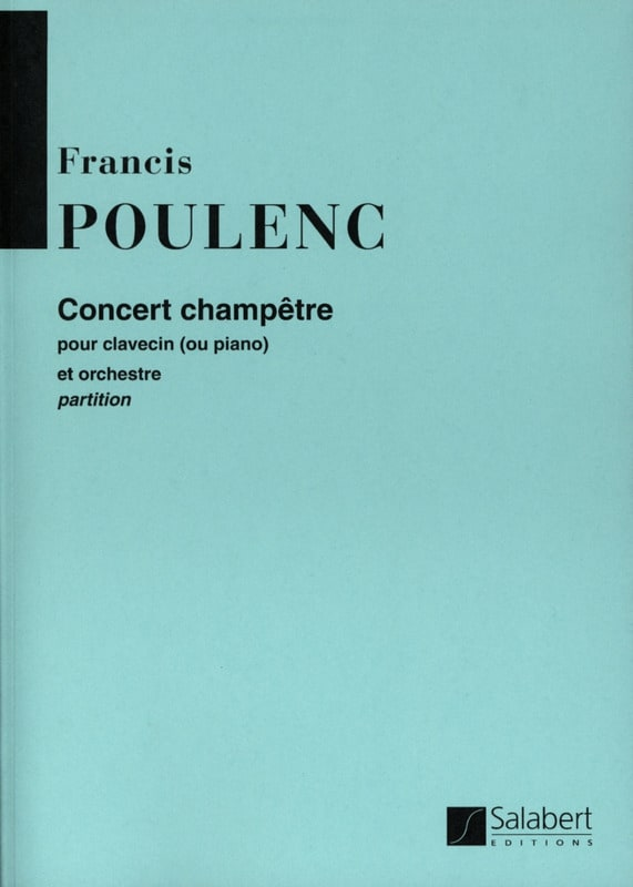 Francis Poulenc - Country Concert - Conductor - Partition - di-arezzo.co.uk