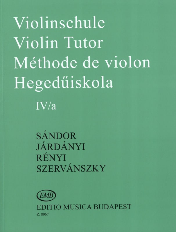 Sandor Frigyes / Jardanyi Pal / Szervanszky Endre - Violin Method Volume 4A - Partition - di-arezzo.co.uk