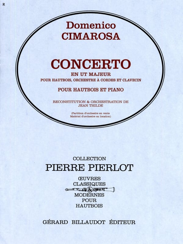 Domenico Cimarosa - Concerto in C Major - Oboe - Partition - di-arezzo.com