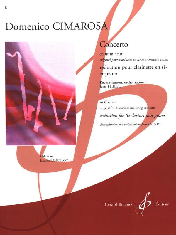 Concerto pour Clarinette en ut mineur - CIMAROSA - laflutedepan.com