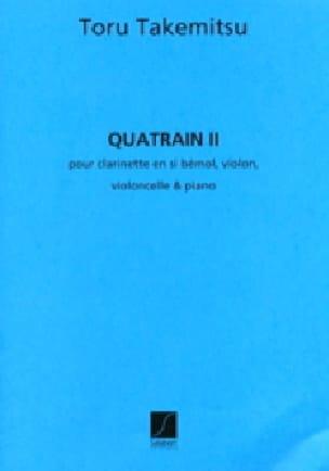 Toru Takemitsu - Quatrain 2 - Partition - di-arezzo.fr