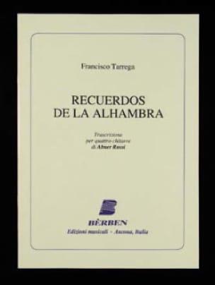 Recuerdos de la Alhambra - 4 Guitares - laflutedepan.com