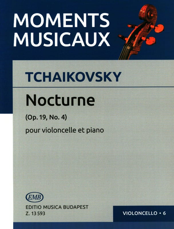TCHAIKOVSKY - Nocturne Op. 19 N ° 4 - Cello - Partition - di-arezzo.co.uk