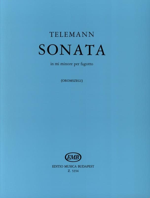 TELEMANN - Sonata in mi minore per fagotto - Partition - di-arezzo.com