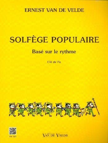 Solfège Populaire - Clé de Fa - VAN DE VELDE - laflutedepan.com