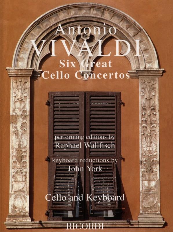 VIVALDI - 6 Great cello concertos - Partition - di-arezzo.com