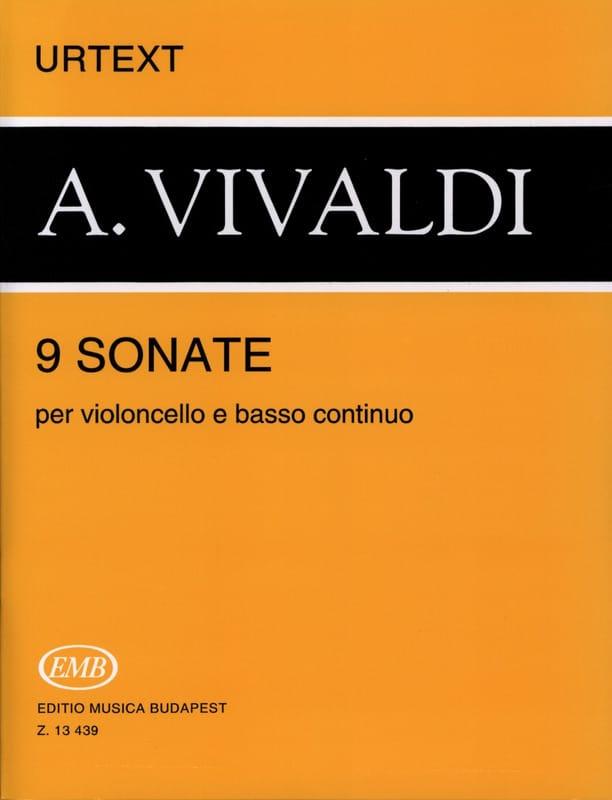 VIVALDI - 9 Sonates - Partition - di-arezzo.fr