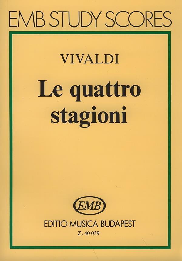VIVALDI - The quattro stagioni - Partitura - Partition - di-arezzo.com