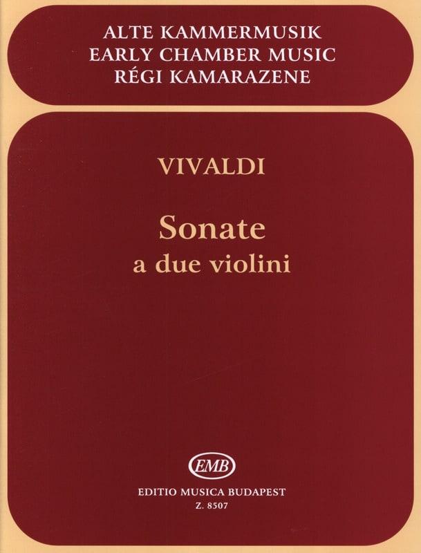VIVALDI - Sonate a violini - Partition - di-arezzo.com