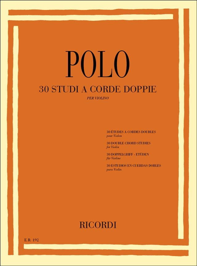 Enrico Polo - 30 Studies in double strings - Partition - di-arezzo.com