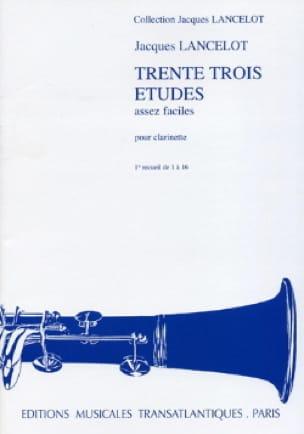 Jacques Lancelot - 33 Pretty Easy Studies - Volume 1 - Partition - di-arezzo.co.uk