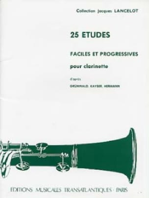 Jacques Lancelot - 25 Easy and progressive studies - Partition - di-arezzo.co.uk