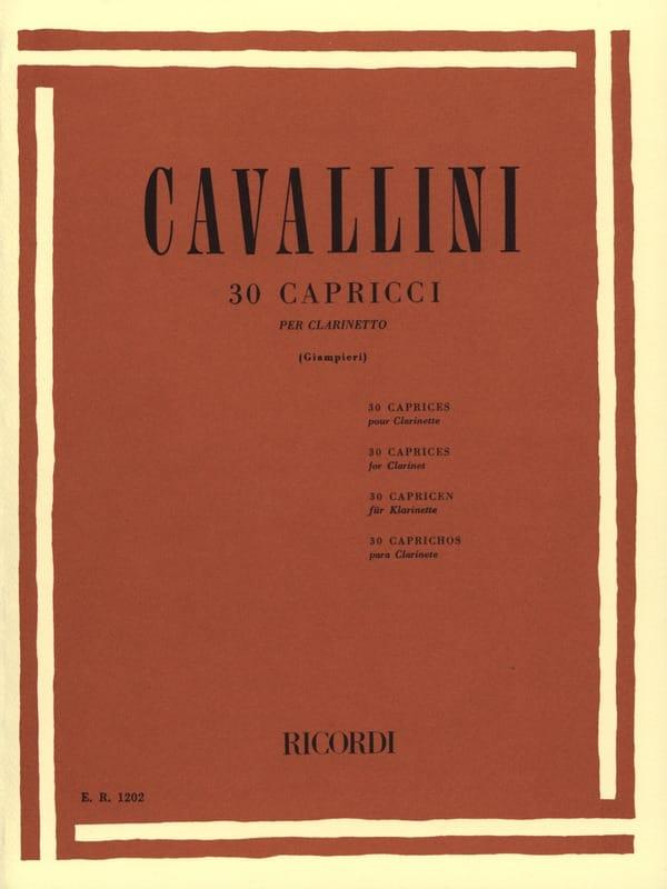 Ernesto Cavallini - 30 Capricci - Partition - di-arezzo.co.uk