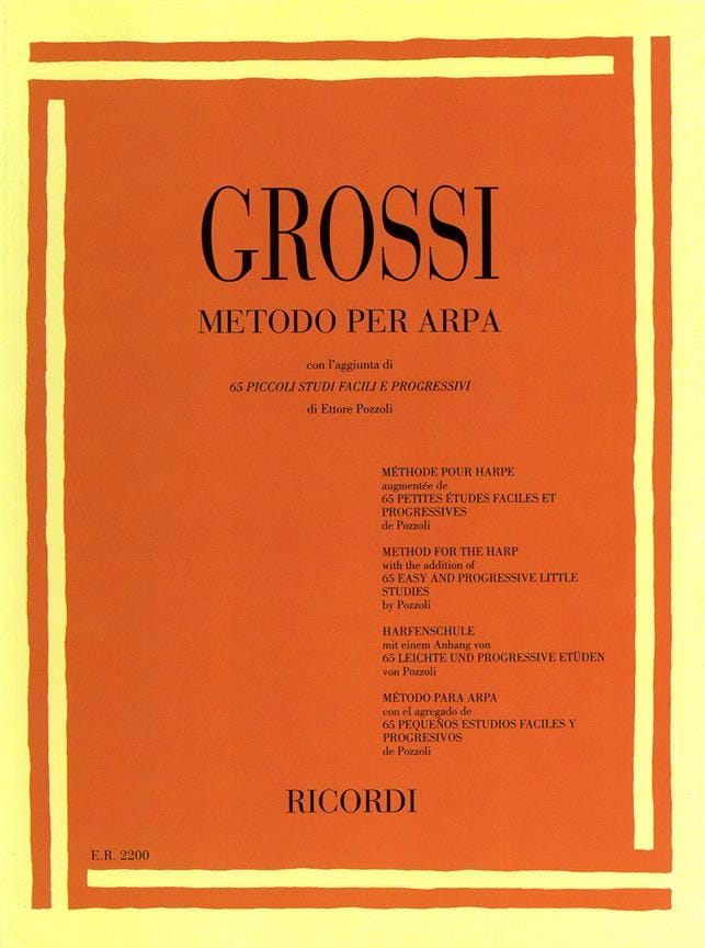 Maria Grossi - Method for harp - Partition - di-arezzo.co.uk