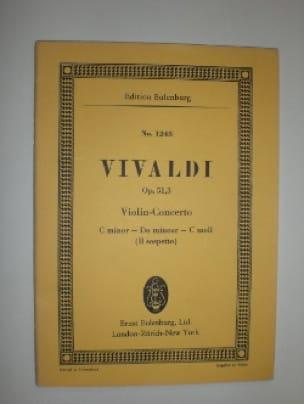 Concerto Pour Violon Opus 51 N°3 Il Sospetto - laflutedepan.com