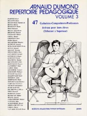 Répertoire pédagogique - Volume 3 - Arnaud Dumond - laflutedepan.com