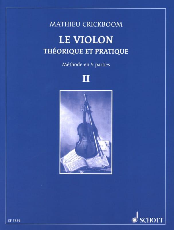 Mathieu Crickboom - The violin, Volume 2 - Partition - di-arezzo.co.uk