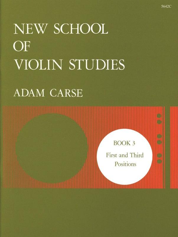 New School Of Violin Studies Volume 3 - Adam Carse - laflutedepan.com
