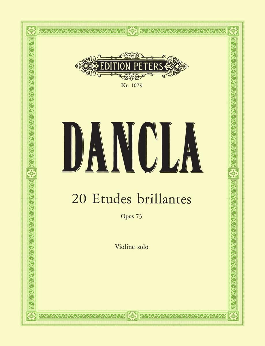 DANCLA - 20 brilliant studies op. 73 - Partition - di-arezzo.co.uk