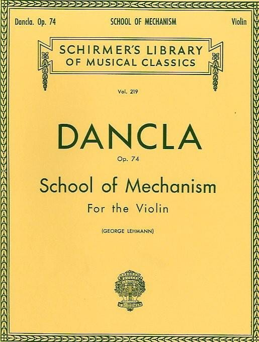 DANCLA - School of the Mechanism Op. 74 or School of Velocity - Partition - di-arezzo.co.uk