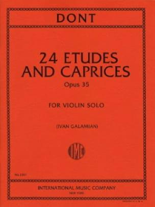 24 Etudes et Caprices Op. 35 - Jacob Dont - laflutedepan.com