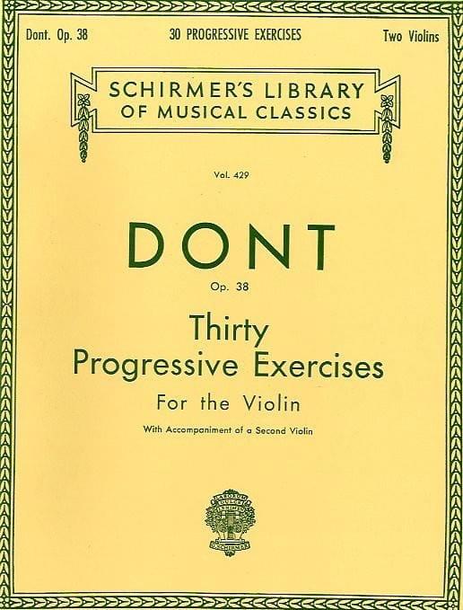 30 Etudes progressives op. 38 - Jacob Dont - laflutedepan.com
