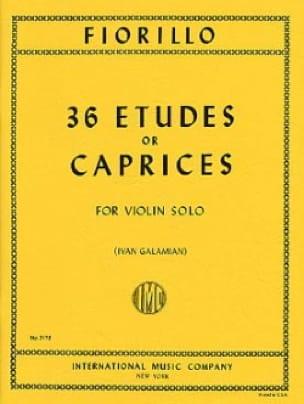 36 Etudes ou Caprices - Frederigo Fiorillo - laflutedepan.com