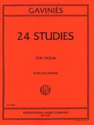 24 Etudes Galamian - Pierre Gaviniès - Partition - laflutedepan.com