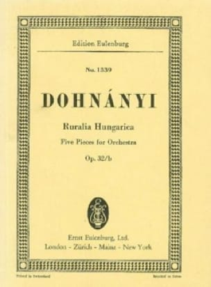 DOHNÁNYI - Ruralia Hungarica, op. 32b - Partition - di-arezzo.co.uk