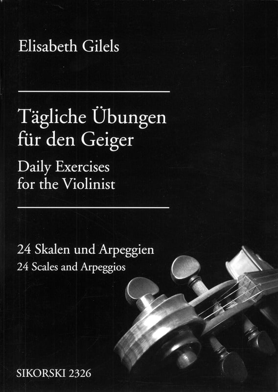 Elisabeth Gilels - Tagliche Übungen für den Geiger - Partition - di-arezzo.co.uk