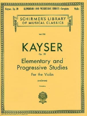 Heinrich Ernst Kayser - 36 Studies op. Svecenski - Partition - di-arezzo.co.uk
