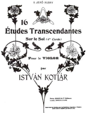 16 Etudes transcendantes - Istvan Kotlar - laflutedepan.com