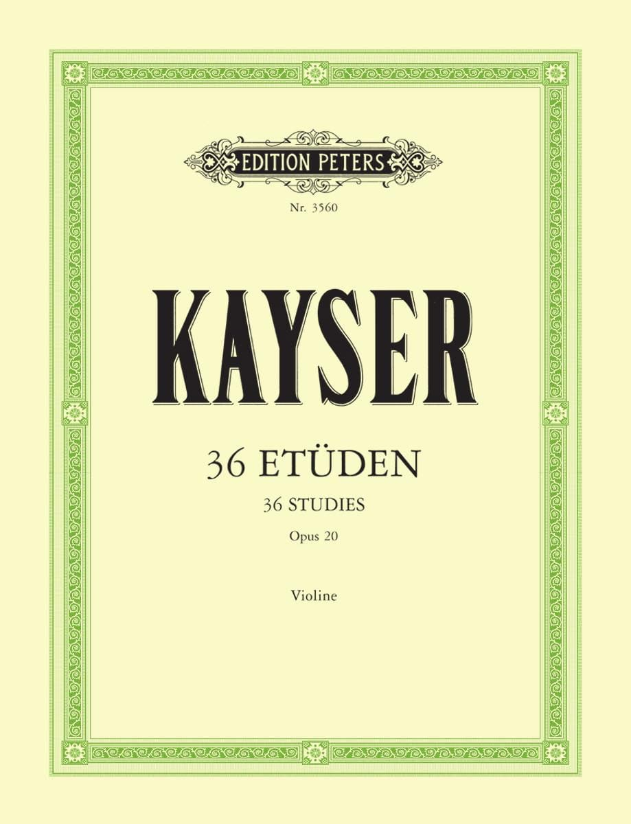 Heinrich Ernst Kayser - 36 Studies Op. 20 - Partition - di-arezzo.co.uk