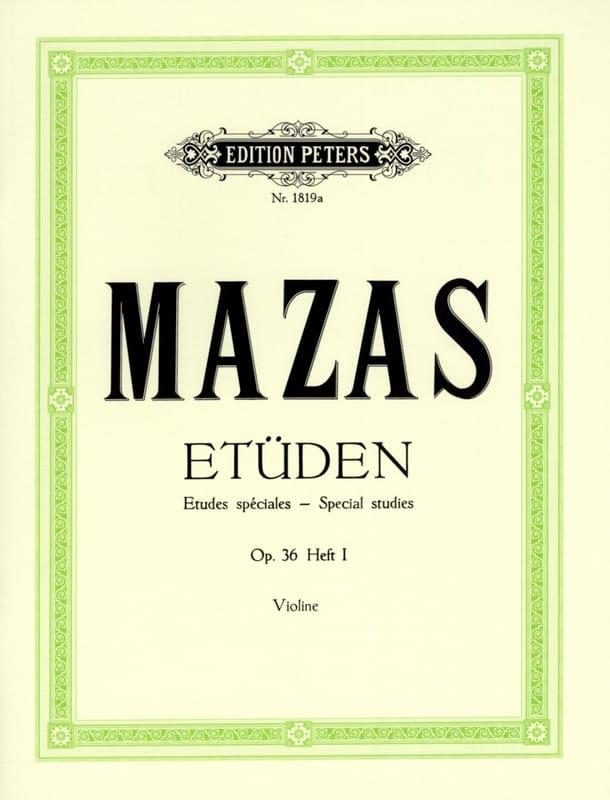 MAZAS - Special Studies op. 36 n ° 1 - Partition - di-arezzo.com
