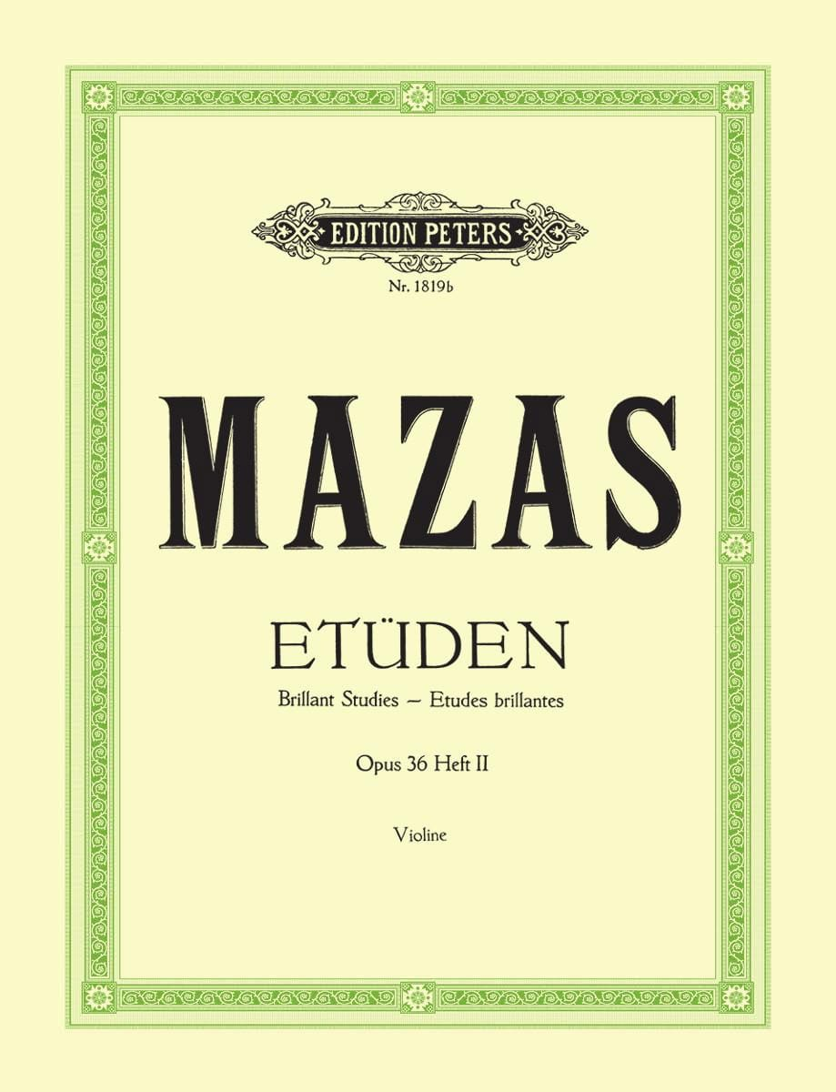MAZAS - Brilliant studies op. 36 n ° 2 - Partition - di-arezzo.com